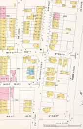 Image ID: 1993380  Bronx, V. 10, Plate No. 19 [Map bounded by W. 165th St., Anderson Ave., W. 162nd St., Ogden Ave.] (1909)