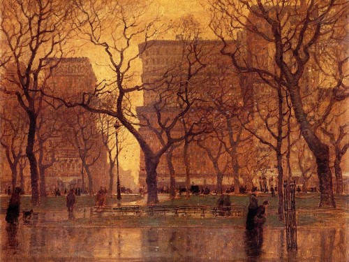After the Rain, Paul Cornoyer (c. 1900).