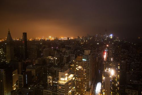 Post-Sandy Manhattan. Source: Hybirdd, via Wikimedia Commons.
