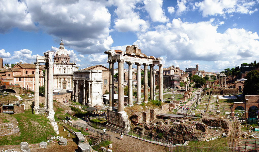 The Roman Forum. Source: Wikimedia Commons.