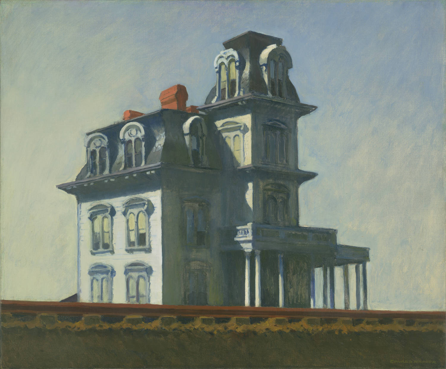 Edward Hopper. House by the Railroad (1925).
