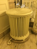 An unusual steam radiator in the main hall.