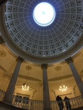 Columns and rotunda in the main hall.
